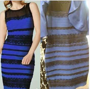 Black & Blue or White & Gold
