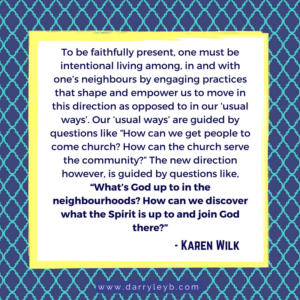 How to Missionally Engage your Community - Karen Wilk